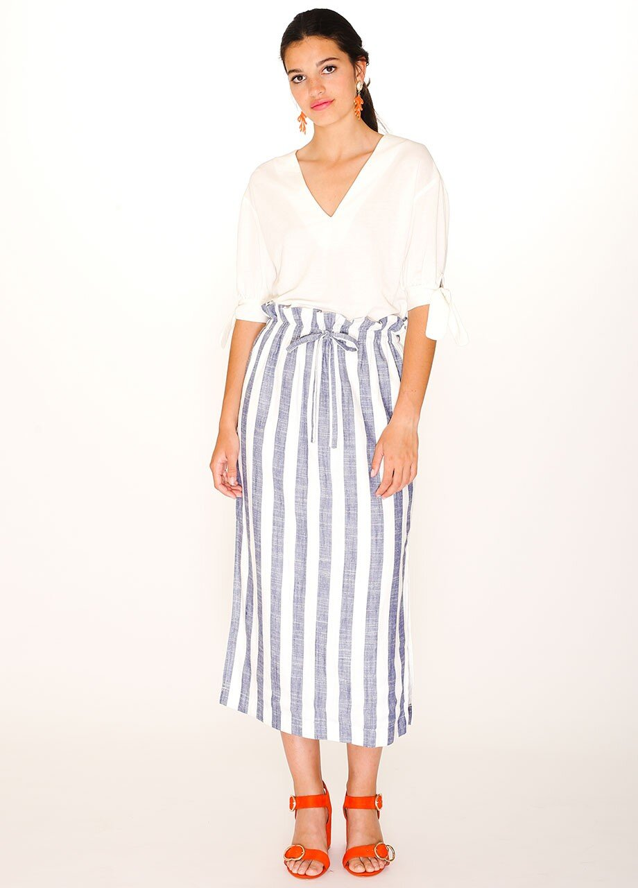 falda-blue-stripes